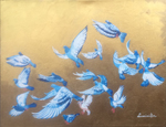 Seagulls, gold, joy