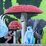 mushrooms, angel, clarinet, endangered species
