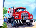 truck, concrete mixer