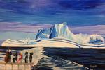 orchestra, polar bear, iceberg, ocean