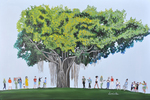 tree, saga, people, art