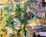 wall, garden, park, lntern, vines