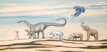 dinosaurs, endangered species, flutist, raven