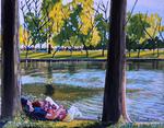 love, lovers, park, lake