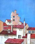 roofs, houses, stucco