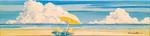 summer, beach, umbrellas