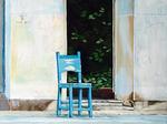 chair, blue Chair, Chair in Cuba, Cuba