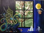 orchestra, dragon, endangered species, window, tree, bicycle