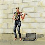 violin, musician, violin player, street musician