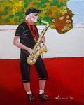 saxophone, sax, saxiphone player, musician