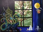 dragon, orchestra, endangered species, tree, window
