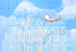 sky, flying nude, escape